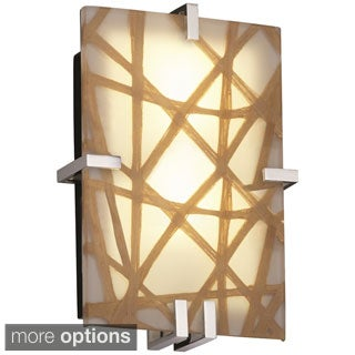 Justice Design 3Form Clips 2-light Rectangle Wall Sconce
