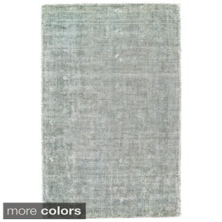 Grand Bazaar Hand Woven Viscose & Cotton Sarma Area Rug in Ice (5' x 8')