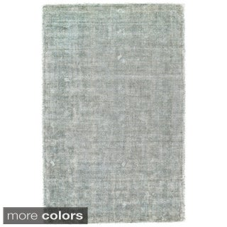 Grand Bazaar Hand Woven Viscose & Cotton Sarma Rug in Ice 5' x 8'