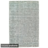 Grand Bazaar Hand Woven Viscose & Cotton Sarma Area Rug in Ice (9'6 x 13'6)