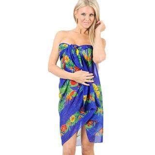 La Leela Swimsuit Wrap Beachwear Cover up Dress Swimwear Bikini Bathing Suit Shawl Black