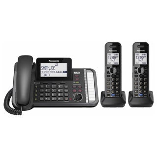 Panasonic KX-TG9582B Link to Cell DECT 6.0 2-handset 2-line Digital Cordless Phone