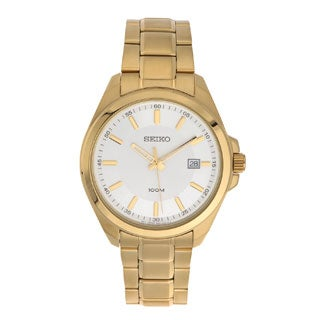 Seiko SUR064 Men's Gold Date Dress Watch