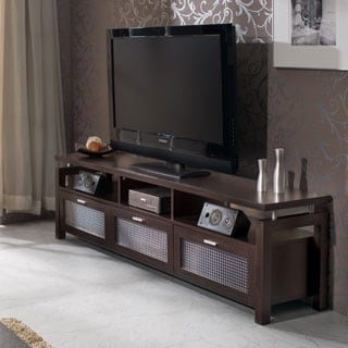 Furniture of America Bauston Espresso Entertainment Console