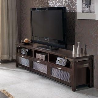 Furniture of America Bauston Espresso Entertainment Console