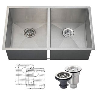 MR Direct 3322D Kitchen Ensemble Stainless Steel 90 Degree Sink
