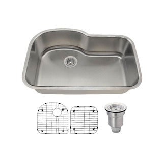 MR Direct 346 Kitchen Ensemble Stainless Steel Single Bowl Sink