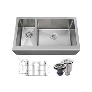MR Direct 407 Kitchen Ensemble Stainless Steel Apron Sink
