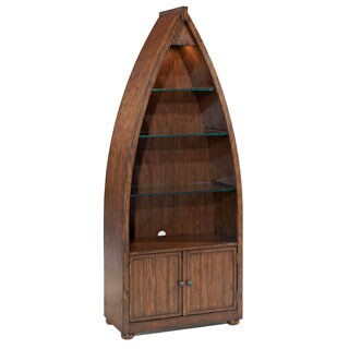 Beafort Nautical Dark Oak Storage Bookcase