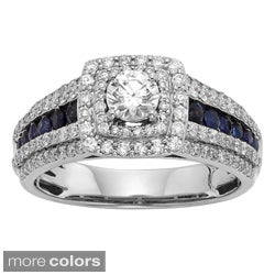 Sofia 1ct TDW Diamond and Sapphire Bridal Ring (H-I, I1-I2)