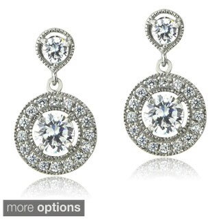 ICZ Stonez Silver Cubic Zirconia Dangle Earrings