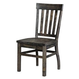 Gracewood Hollow Barbara Aged Wood Dining Chair (Set of 2)