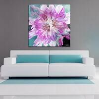 Ready2HangArt 'Painted Petals Blossom' Canvas Wall Art - Purple