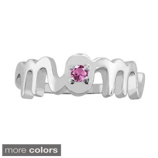 10kGold 'Mom' Birthstone Ring