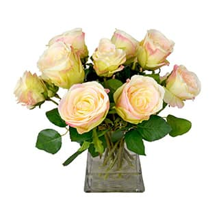 Peach Roses in a Glass Vase Filled with Realistic Look Acrylic Water https://ak1.ostkcdn.com/images/products/P16843603w.jpg?impolicy=medium