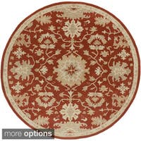 Hand-tufted Nolan Traditional Wool Area Rug (8' Round)