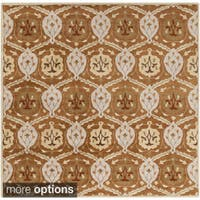 Hand-tufted Sofia Traditional Wool Area Rug (9'9 Square)