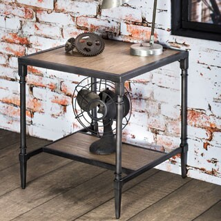 Furniture of America Loren Natural Industrial End Table