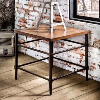 Furniture of America Colegate Light Oak Industrial End Table