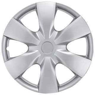 BDK Universal Fit 15-inch 4-piece Durable ABS Silver Hubcap Set (Toyota Yaris Style)