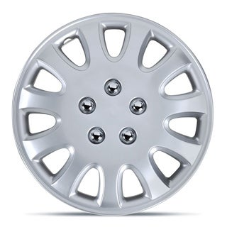 BDK Universal Fit 14-inch 4-piece Durable ABS Silver Hubcap Set (93-95 Toyota Corolla Style)