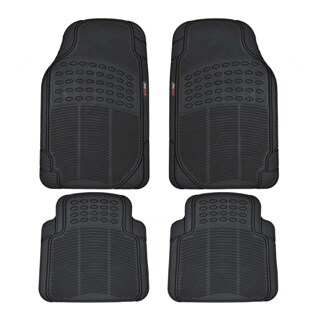 Motor Trend Odorless BPA Free Rubber Car Mats (Set of 4)