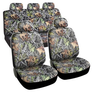 BDK Camouflage 9-piece Seat Cover Automotive Set