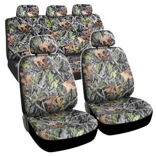 BDK Camouflage 9 Piece Seat Cover Automotive Set