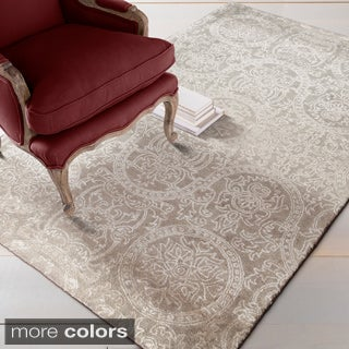 Hand-tufted Lucia Wool/Viscose Area Rug (5' x 8') - Thumbnail 0