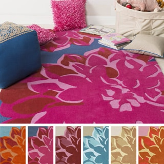 Hand-Tufted Marley Floral Polyester Rug (8' x 11')