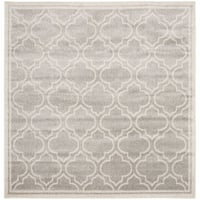 Safavieh Amherst Indoor/ Outdoor Light Grey/ Ivory Rug - 7' Square