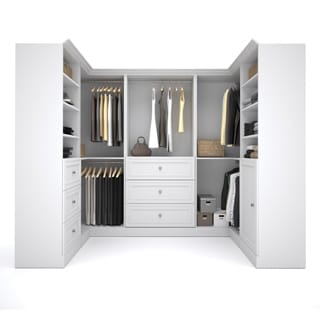 Versatile By Bestar 108 Inch Corner Closet Storage Kit (Option: White)