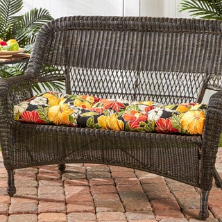 Havenside Home Grey Whale Floral 44-inch Outdoor Swing/ Bench Cushion