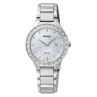 Seiko Women's 'Core' Stainless Steel Solar Powered Quartz Watch