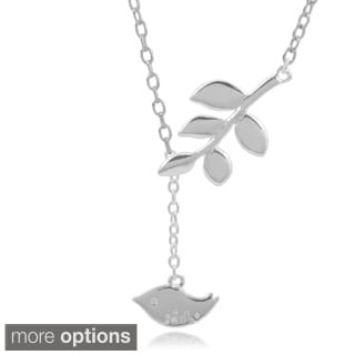 Journee Collection Sterling Silver Bird Pendant
