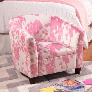 HomePop Kids' Pink Moo Moo Chair