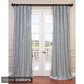 Exclusive Fabrics Algeirs Embroidered Faux Silk Curtain Panel