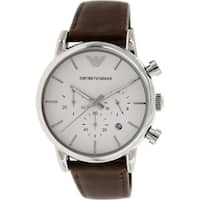 Armani Men's AR1846 Classic Brown Leather Watch