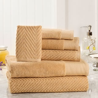 Elegance Spa 100-percent Egyptian Cotton Jacquard 6-piece Towel Set