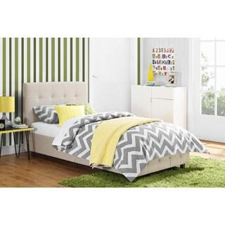 Avenue Greene Romeo Tan Linen Upholstered Twin Bed