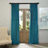 Exclusive Fabrics Signature Velvet 96-inch Blackout Curtain Panel