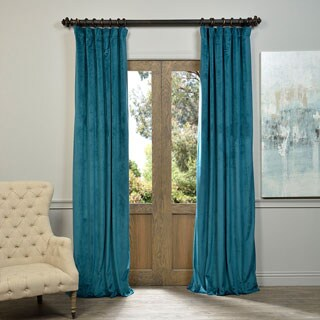 Marvelous Exclusive Fabrics Signature Velvet 96 Inch Blackout Curtain Panel