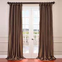 Exclusive Fabrics Faux Silk Taffeta 120-inch Blackout Curtain Panel