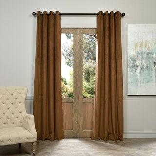 Exclusive Fabrics Signature Velvet Grommet 84-inch Blackout Curtain Panel