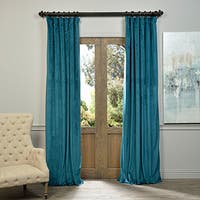 Exclusive Fabrics Signature Velvet 108-inch Blackout Curtain Panel