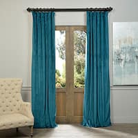 Exclusive Fabrics Signature Velvet 108-inch Blackout Curtain Panel - 50 x 108