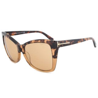 Tom Ford Women's TF0295 Carli Rectangular Sunglasses