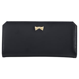Zodaca Leather Bowknot Women Clutch Wallet Long Purse