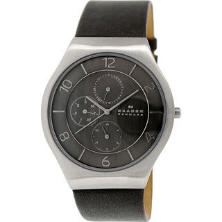 Skagen 'Grenen' Men's Stainless Steel and Leather SKW6116 Watch