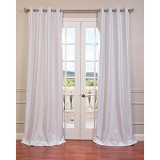 Exclusive Fabrics Textured Dupioni Faux Silk 96-inch Blackout Grommet Curtain Panel